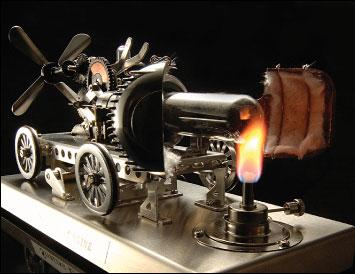 スターリングエンジンは、1816年のスコットランドのロバート・スターリングが発明し、空気の膨張・